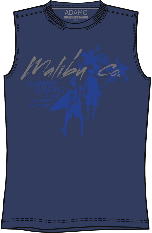 ADAMO 109 Koszulka Niebieska Duże Rozmiary