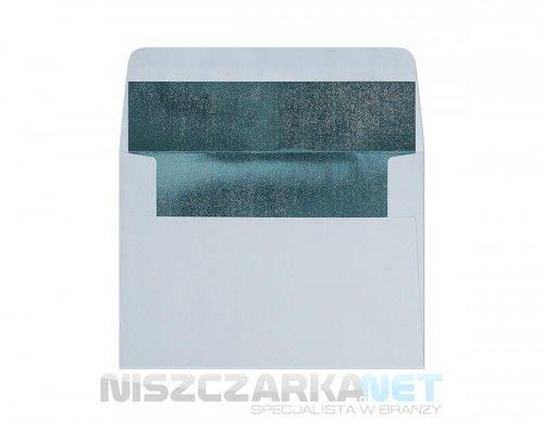 Koperta / koperty ozdobne C6 - GŁADKI NIEBIESKI - METALIZOWANY opk 10szt 120g/m2