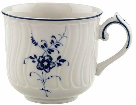 Villeroy & Boch Vieux Luxembourg filiżanka do kawy mokka/espresso, 100 ml, wysokość: 5,8 cm, porcelana premium, biała/niebieska