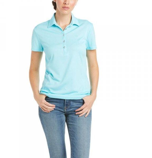 Koszulka damska TALENT SS POLO SS21 - Ariat - cool blue