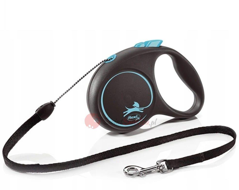 Flexi smycz Black Design linka S 5m niebieska
