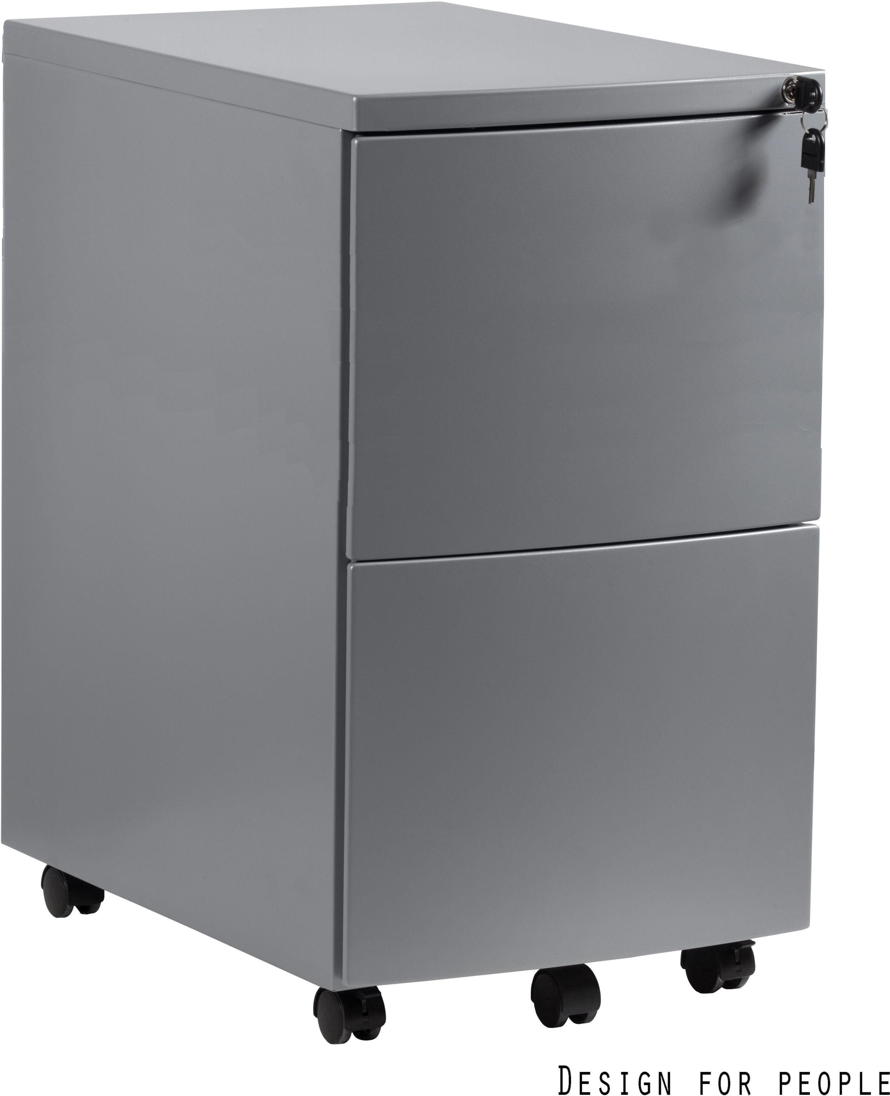 Kontener biurowy 39x56x64 cm RPH-02-S srebrny