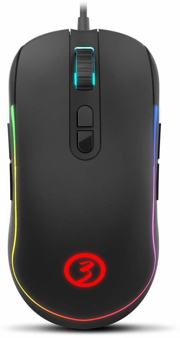 Ozone Neon X20 mysz optyczna USB 10000 DPI, dwustronna mysz (dwustronna, optyczna, USB, 10000 DPI, czarna)