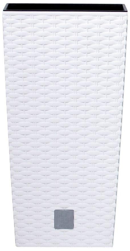 Prosperplast Osłonka na doniczkę Rato Square biały, 17x17x32,4cm