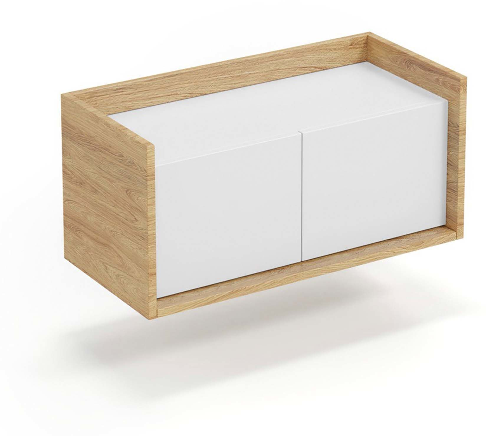 Mobius szafka niska 2D (78x41x36 cm), róż, meble modułowe