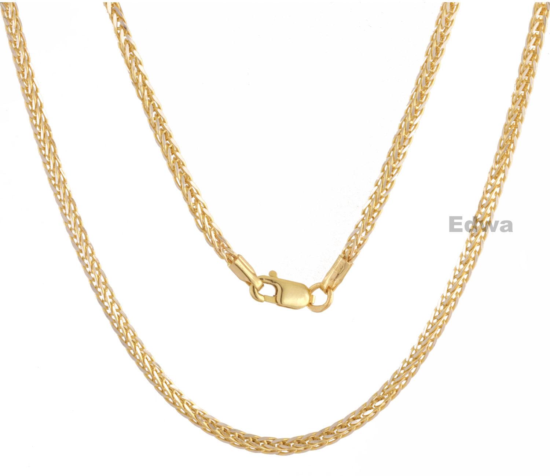 Łańcuszek złoty Lisi Ogon pełne złoto pr.585 45 cm
