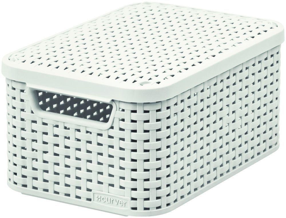 Pudełko z pokrywką - krem  S - CURVER