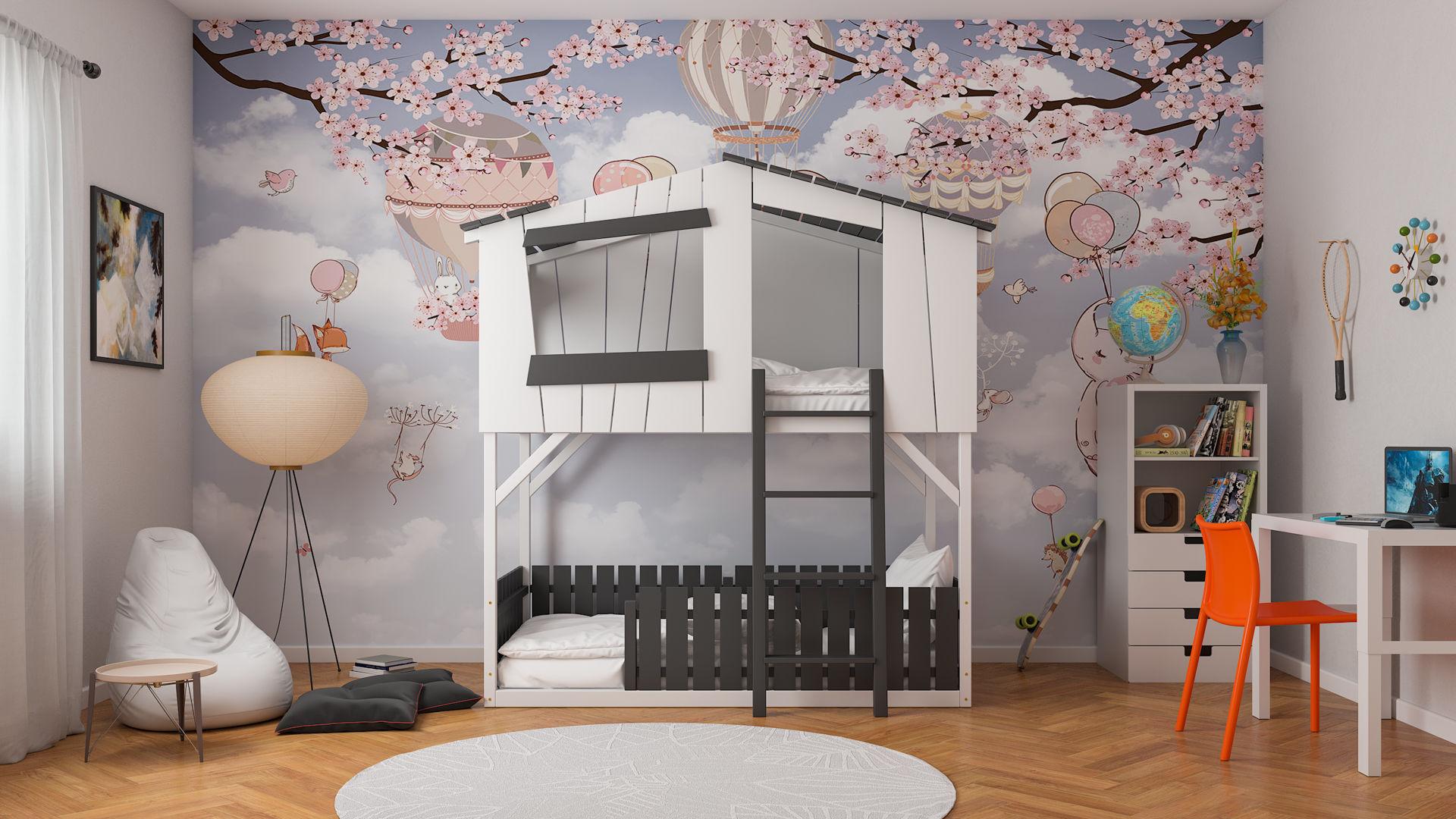 Łóżko piętrowe domek CODY