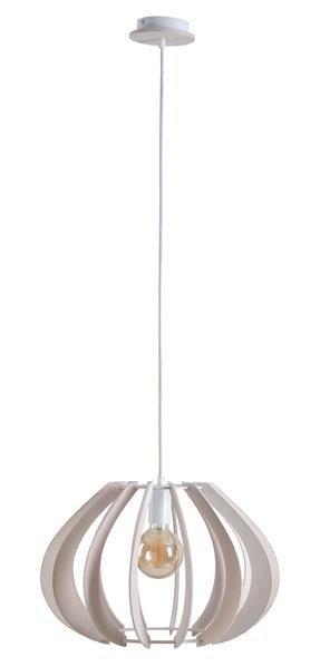 Nowoczesna lampa wisząca NORA 645 drewno bielone śr. 44cm