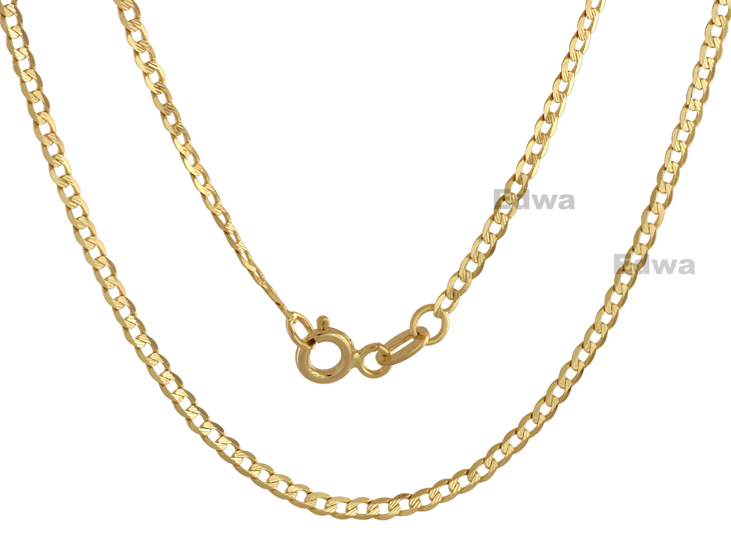 Łańcuszek złoty Pancerka z grawerem, pełne złoto pr.585 45 cm