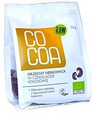 Orzechy nerkowca w czekoladzie kokosowej BIO 70 g Cocoa