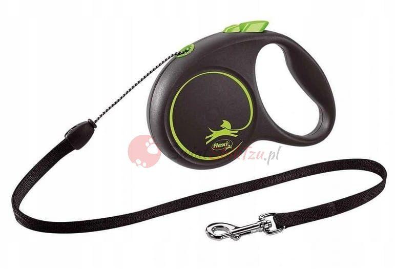 Flexi smycz Black Design linka S 5m zielona