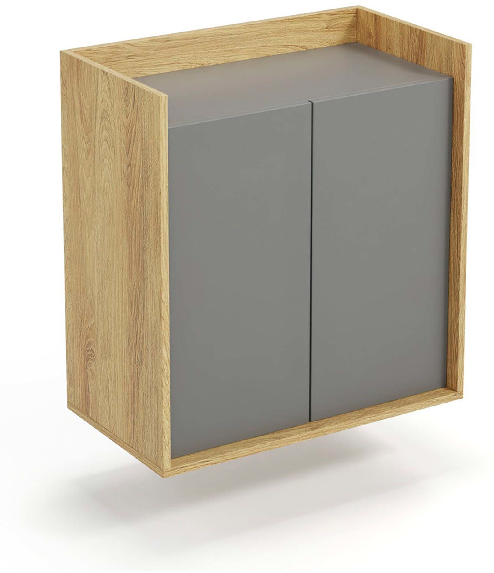 Mobius szafka 2D (78x41x83 cm), hikora naturalna, meble modułowe