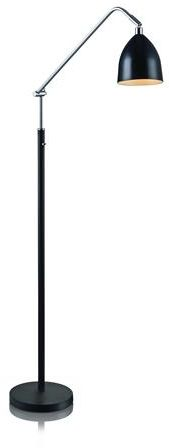 Lampa podłogowa Fredrikshamn 105023 Markslojd czarno-chromowa lampa stojąca