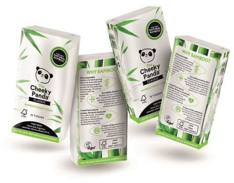 Chusteczki bambusowe trzywarstwowe kieszonkowe 8 x 10 szt Cheeky Panda