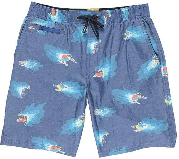 Element HOFFMAN ARROYO NEON BLUE męskie szorty kąpielowe - S