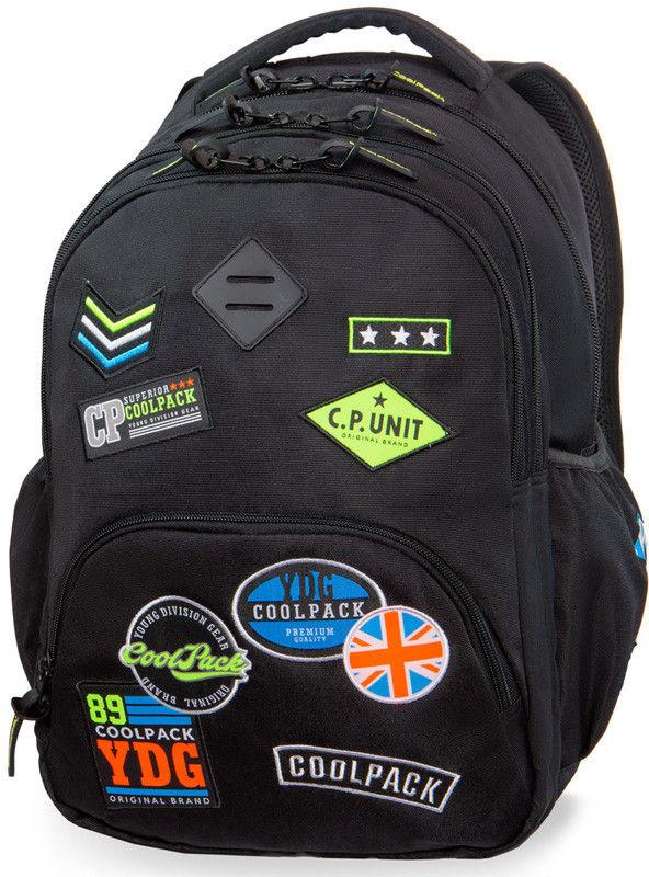 CoolPack - Bentley Plecak młodzieżowy Badges Black 24055