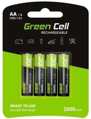 Akumulatorki AA 2600 mAh GREEN CELL (4 szt.)
