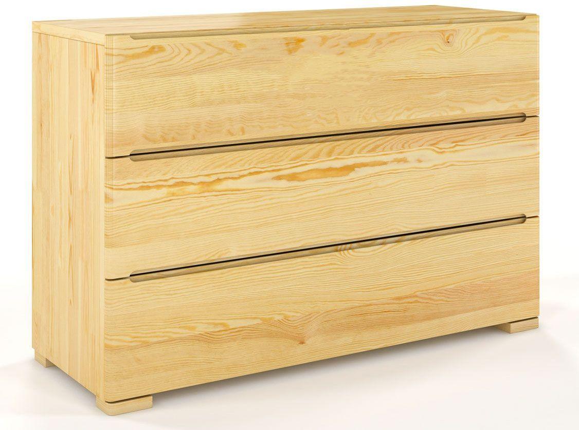 Komoda drewniana z szufladami Ventos 2S - Sosna