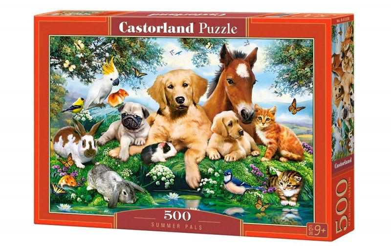 Puzzle 500 elementów Zwierzątka Letni kumple
