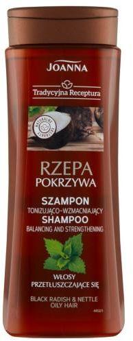 Joanna Tradycyjna Receptura Rzepa pokrzywa szampon tonizująco-wzmacniający do włosów przetłuszczających się 300 ml