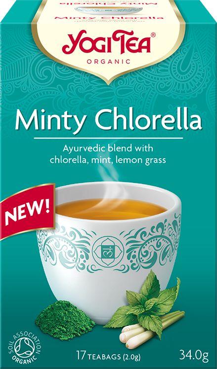 Herbatka miętowa z chlorellą bio (17 x 2 g) 34 g - yogi tea
