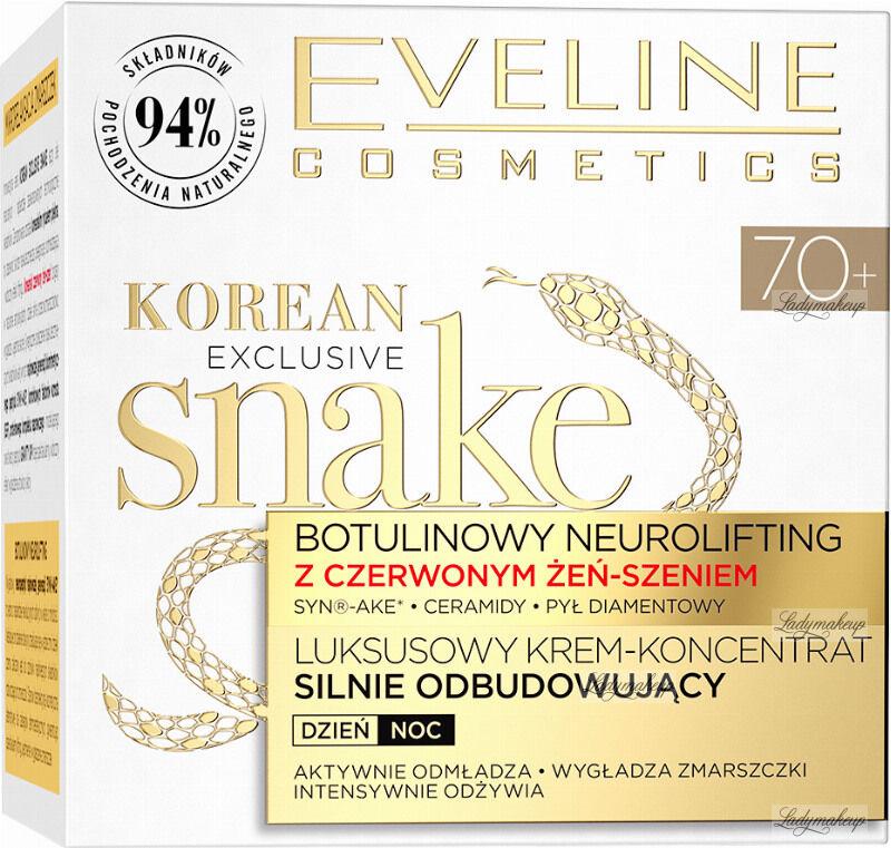 Eveline Cosmetics - KOREAN EXCLUSIVE SNAKE - Luksusowy krem odbudowujący dla cery dojrzałej - 70+