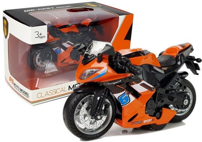 Motocykl z Naciągiem 1:14 Pomarańczowy