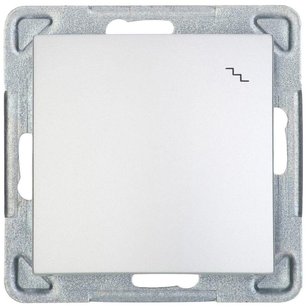 Włącznik pojedynczy schodowy IMPRESJA Srebrny OSPEL