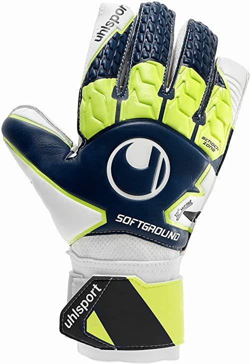 Uhlsport miękkie zaawansowane rękawiczki, niebieskie, 7,5