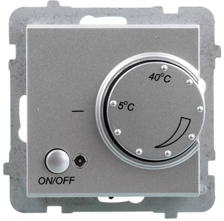 SONATA Regulator temperatury /czujnik napowietrzny/ srebny mat RTP-1RN/m/38