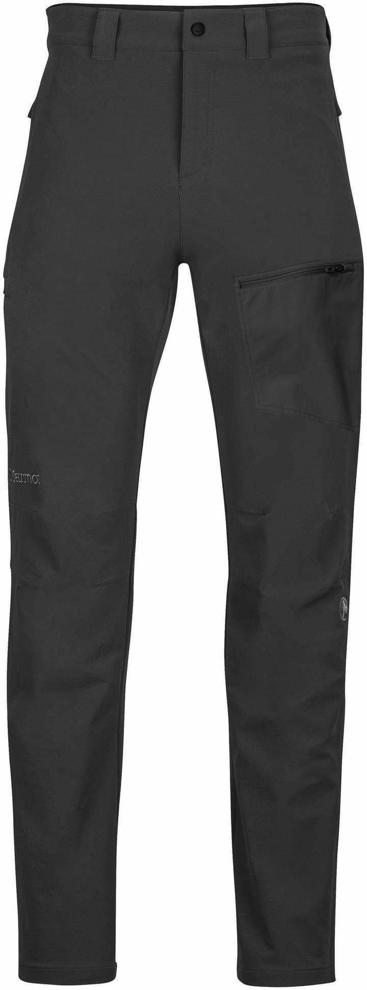 Marmot męskie spodnie do picia, Softshell spodnie trekkingowe, spodnie na zewnątrz, wodoodporne, oddychające, 38, czarne