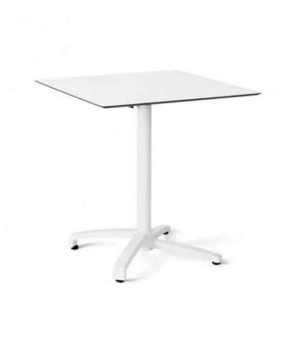 Stół Drop 80x80 White-Silver Resol