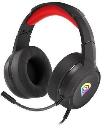 Słuchawki z mikrofonem Genesis Neon 200 RGB Gaming podświetlenie RGB czarno-czerwone