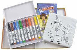 MALINOS 300015, Bundle Babyzauber kredki + książeczka do kolorowania, zmywalne i wielokrotnego użytku, kolorowe