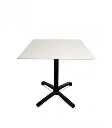 Stół Drop 80x80 Black-Silver Resol