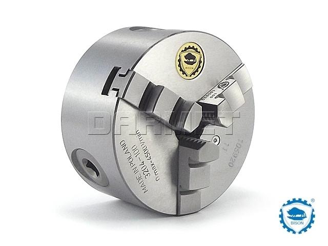 Uchwyt tokarski samocentrujący spiralny, żeliwny, 3 - szczękowy: 100MM (DIN 6350) - BISON BIAL (3204-100)