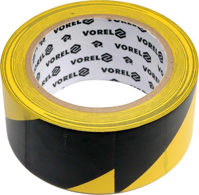 Taśma ostrzegawcza, klejąca, żółto/czarna 48 mm x 33 m Vorel 75231 - ZYSKAJ RABAT 30 ZŁ