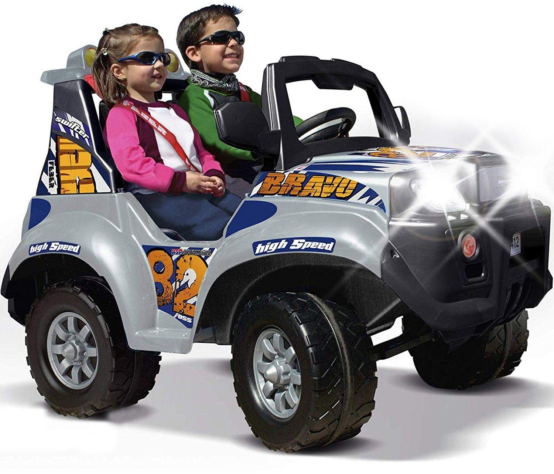 Feber Duży Samochód Dwuosobowy na akumulator 12V dla dzieci ze światłami