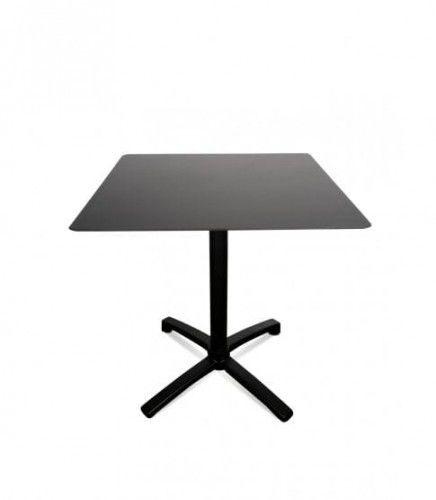 Stół Drop 80x80 Black-Black Resol