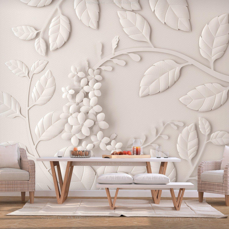 Fototapeta - papierowe kwiaty (kremowy)