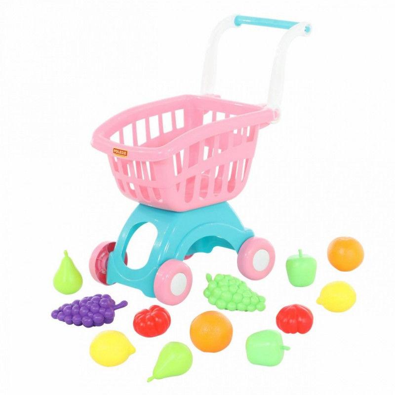 Wózek do sklepu mini i zestaw zakupowy