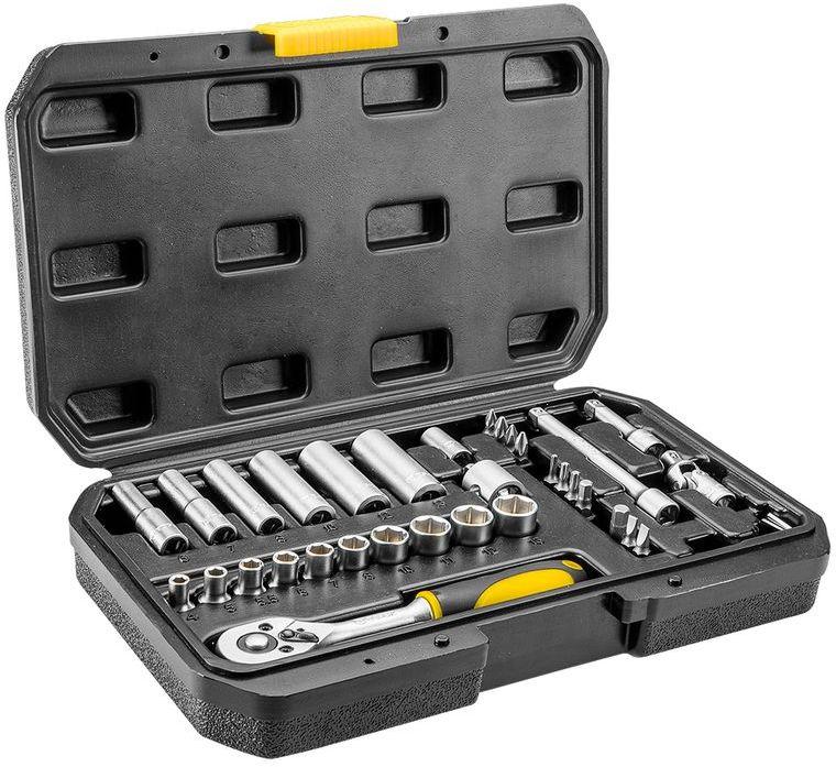 Klucze nasadowe 1/4'' zestaw 36 elementów 38D669