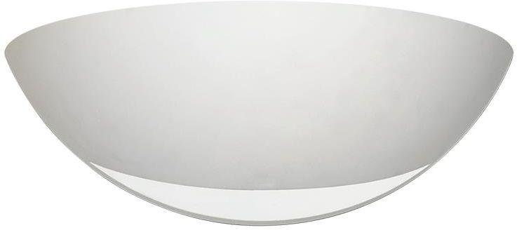 Lampex Denis 696/1 BIA kinkiet lampa ścienna biały nowoczesny gips półkolisty kształt E27 1x60W 30cm