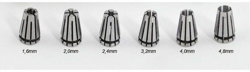 Tulejki zaciskowe elektrod do ostrzałki Spartus D90