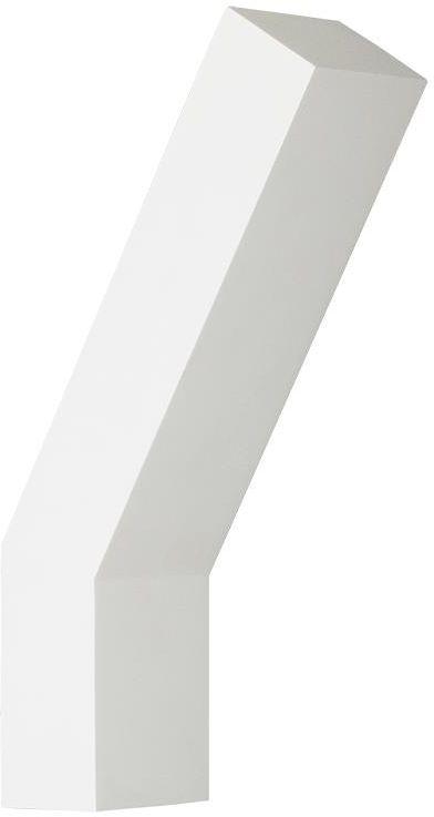 Lampex Jerry 698/1 BIA kinkiet lampa ścienna nowoczesna prosty geometryczny kształt G9 1x40W 9,5cm