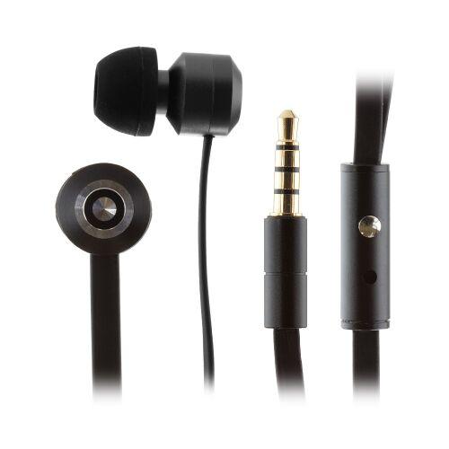 KITSOUND Ribbons Słuchawki dokanałowe z mikrofonem czarne
