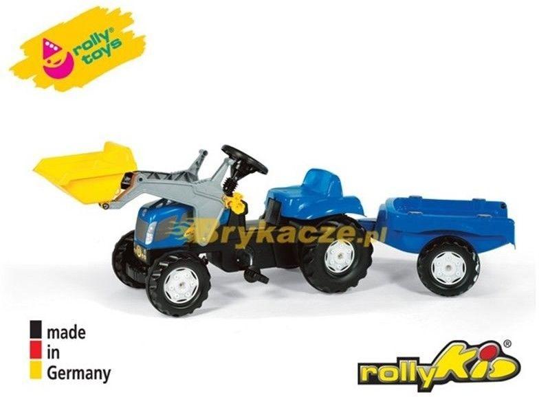 Rolly Toys New Holland rollyKid Traktor z łyżką i przyczepką