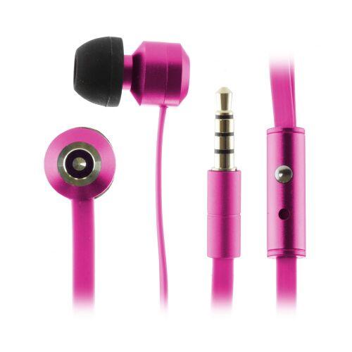 KITSOUND Ribbons Słuchawki dokanałowe z mikrofonem różowe