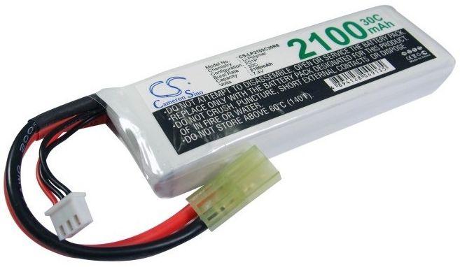 2100mAh 15.54Wh Li-Polymer 7.4V 2S 30C JST (Cameron Sino)